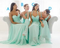 Reference Images A-Line Sweetheart 2015 Mint Green 4 Styles Bridesmaid Dresses For Wedding Chiffon Long Backless Sweetheart Halter V Neck Cheap Bridesmaid Dresses Plus Size