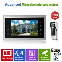 Wholesale YSECU quot TFT TVL Door Monitor Video Intercom Home Door Phone Recorder System SD TF Card Supported Waterproof Rain Cover