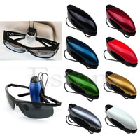 Wholesale Car Auto Reading Glasses Black Sunglass Visor Clip Sunglasses Eyeglass Holder color random A3