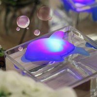 Wholesale Baby Kids Bath Toy LED Dolphin Light Lamp Multi Color Flashing Blue Gift YH