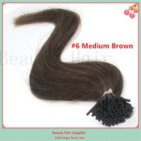 Wholesale Pre Bonded Natural Hair Extensions Keratin Stick I Tip Hair Stick tip Hair Extensions g s s
