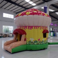 inflatable bouncer - AOQI amusement park equipment commercial use mushroom shape inflatable bouncer for kids jumping made in China