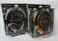 Wholesale limited edition gold silver hdj headphone with retail box new hdj amp headset DJ earphones
