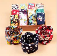 Wholesale Girl Boy Ring Multicolor Winter Children baby Cartoon Scarf Kids Baby Woolen Thicken Keep Warm Scarves D483