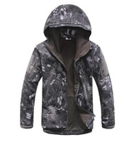 Wholesale Python black HOT TAD python shark skin soft shell jacket waterproof outdoor men s windbreaker