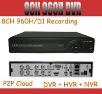 Wholesale 8ch H Full D1 CCTV DVR Recorder P HDMI Remote Network Mobile Phone View ch standalone DVR NVR HVR IN one ONVIF Easy Access