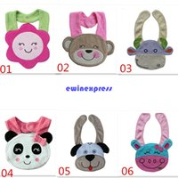 animal amp - Waterproof Cute Cotton Baby bandana bibs Infant saliva towels Baby bibs amp burp cloths D Cartoon Animals designs