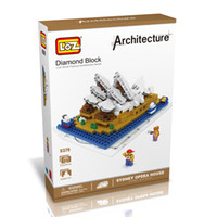 architecture houses - LOZ The Sydney Opera House Model Nano World Architecture Britain D Diamond Building Blocks Action Figure D Bricks Toys For Children