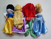 belle plush doll - Original Princess Dolls Rapunzel Cinderella Snow White Little Mermaid Ariel Tinkerbell Tiana Belle Merida Plush Dolls