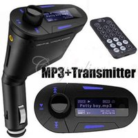 Wholesale Universal mm Car Auto Kit Audio Socket In Car LCD FM Transmitter Radio Modulator Remote with USB MMC SD LCD For Phone MP3