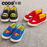 Wholesale 2015 New hot Baby Boy Superman Casual Shoes Kids Sneaker Comfy