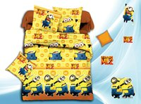 Wholesale by dhcartoon Printing Minions bedclothes D bedding sets queen Animal print bedsheet quilt duvet cover bed linen bedclothes cotton home