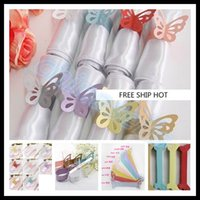 Cheap hot wedding paper butterfly napkin ring wrap bridal shower wedding favors party table Decoration