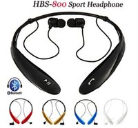 Wholesale HBS800 HBS Wireless Bluetooth Stereo Headset Earphone Sport Neckband Headset for iPhone Samsung S6 Note4 TONE HBS800 DHL Free Hot