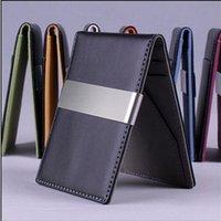 Wholesale new hot fashion wallets Korea design men men wallets leather wallet purse men casual credit card holder Credit Card Clip