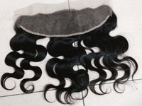 Cheap Indian Hair Brazilian Virgin Hair Best Body Wave Under $50 Lace Frontal Closure