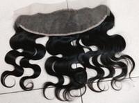 Wholesale 7A Brazilian virgin hair Ear To Ear full Lace Frontal Closure body wave Human Hair x4 silk Bleached Knots Swiss Lace
