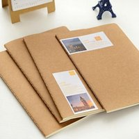 Notepads Soft Copybook Stitching Binding brown Kraft notebook A5 21*14cm lined pages vintage wholesale notebook booklet binder notepads memo pads note pads memo book diary jounal