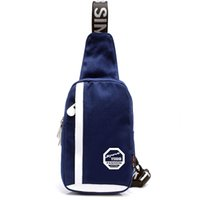 Wholesale Unisex Superior Single Shoulder Canvas Travel Bag Sling Pack Outdoor Casual Fashion Teenager Sport Unbalanced Cross Body Small Chest Bag