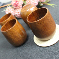 Wholesale High quality nature Wood Tea Cup Wooden Cup Eco friendly Pot bellied Cup