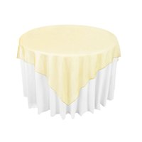 bamboo table cloth - Gold Organza Table Overlay Cloth quot X72 quot Wedding Banquet Supply Party Sheer Choose Colors Favor OCL