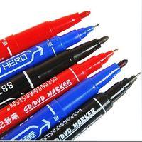 art line pen - HERO Painting Pens Hook line pen Waterproof colorfast CD marker pen heads oily Art Drawing marker pen blue red black drop shipping