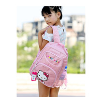 Wholesale lovely hello kitty kids school bags for teenagers girls backpacks Children schoolbag Leisure outdoor travel bags