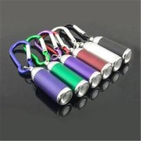 Mini LED Flash Light torche d'urgence Keychain 6 Couleur