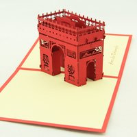 architecture ideas - Qubiclife Arc de Triomphe Architecture Travel gift ideas handmade three dimensional greeting cards