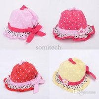 Wholesale Lovely Baby Toddlers Princess Flower Bow Sunhat Topee Hat Caps Months
