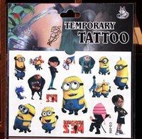 Wholesale Cartoon temporary tattoos tatoo stickers Fashion Frozen Minions Superman spiderman styles waterproof childrens face tattoos body art
