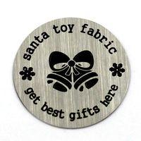 Cheap 22MM santa toy fabric locket window plates,living locket, glass locket,memory locket,free shipping