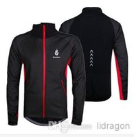 Wholesale High quality Men Fleece Thermal Winter Wind Cycling Jacket Windproof Bike Bicycle Coat Clothing Long Sleeve Jersey