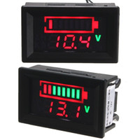 Wholesale 2015 Brand New V Acid Lead Batteries Panel LED Indicator Battery Capacity Digital Monitor Indicator Tester Voltmeter
