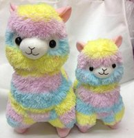 alpaca soft toy - Japanese Striped Rainbow Alpacasso Cute Alpaca Plush Toys Soft PP Cotton Stuffed Animals Alpaca Gifts for Kids cm cm MYF0727