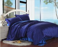 Cheap HOME TEXTILE satin bedding set queen assorted colors brand bedding set king size bed cover bedclothes