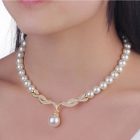 best jewellry - Best Jewelry Kit Pearl Jewelry Set For Women Silver Golden Plated Crystal Pendant Necklace Stud Earring Jewellry Set Earrings Necklaces