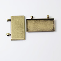 bezels - Beadsnice large blank bezel setting pendant bezels brass rectangle pendant setting for your handmade project diy gift for her ID