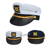 Wholesale Captain Hat Yacht Cap Navy Skipper Sailor Military Party Costume Cap