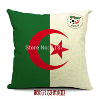 Wholesale Set Covers For Sofa Cushions - The World Cup in Algeria flag style home decoration pillow covers sofa cushion for leaning on cushion sets of car cushion cover