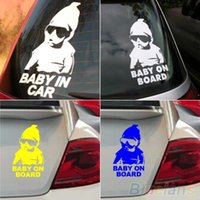Wholesale Baby on Board Car Safty Sticker Decal Waterproof Night Reflective Wall Stickers car covers P39