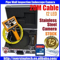 CCD sewer pipe inspection camera - 20M DVR waterproof Wall Sewer Inspection Video Camera Industrial Video Pipe Borescope Inspection Endoscope camera