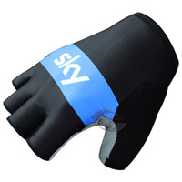 Wholesale Hot Sale SKY PRO TEAM BLACK BLUE Cycling Bike Gloves Bicycle Gel Shockproof Sports Half Finger Glove