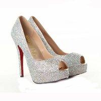 Cheap Cheap Fashion Europe America Woman Peep Toes Rhinestone Wedding&Party Shoes 14.5cm High Heel Stiletto Heel Spring&Summer&Fall