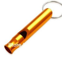 Wholesale 500pcs Large aluminum alloy survival whistle outdoor survival whistle whistles L44 ldx