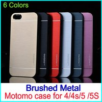aluminium packing cases - MOTOMO Brushed Metal Aluminium Alloy Hard PC Case For iPhone S S Luxury Cell Phone Cases Dust Proof Cover with opp packing