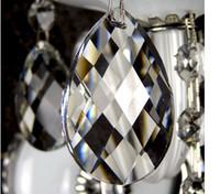 Wholesale mm GLASS CHANDELIER DROP CRYSTAL almond PENDANT crystal chandelier parts