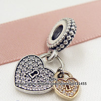Cheap Silver Love Locks Charm Best Hearts, Love Silver Pandora charms