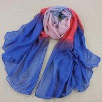 Wholesale Winter Scarf women s Flowers Rainbow Blue famous brands scarf fashion Cotton scarf Size cm S8104