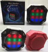 Wholesale JHW V3199 Mini Speakers Octagon Cute Speaker LED Light Bluetooth Wireless Portable Amlifier Stereo Hi Fi Super Bass TF Card USB MP3 Player